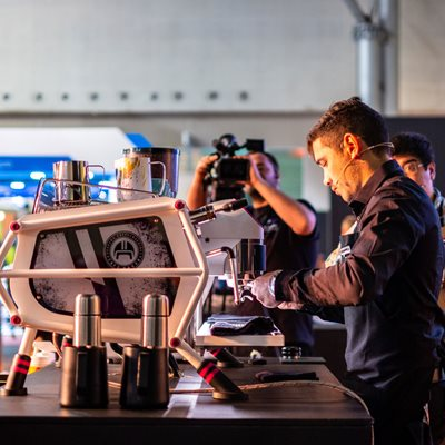 Sanremo Cafe Racer is changing the latte art play field. See it in action at Latte Art Live